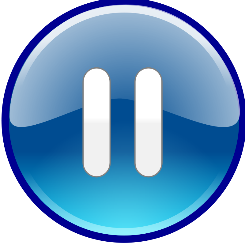 Free Clipart: Windows Media Player Pause Button.
