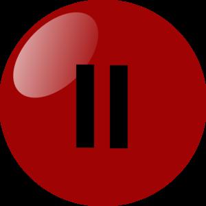 Pause Button Dark Red Clip Art at Clker.com.