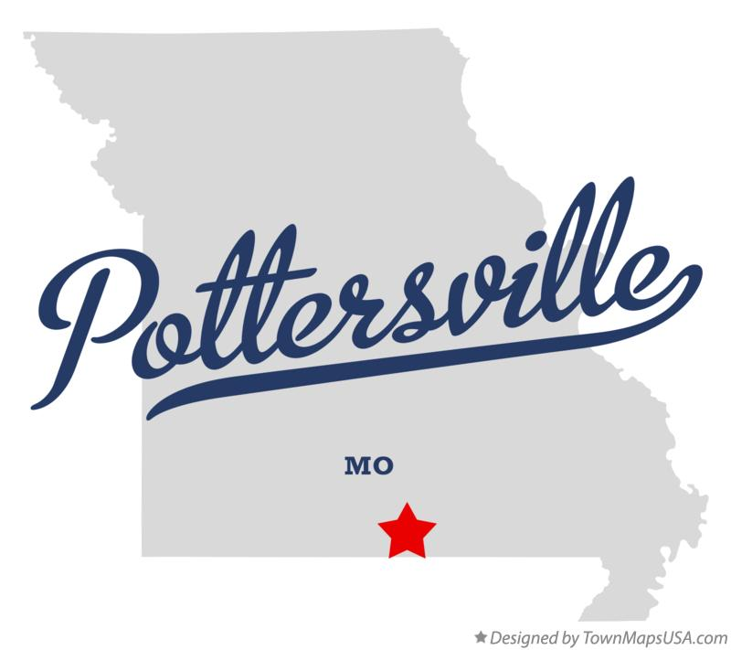 Map of Pottersville, MO, Missouri.