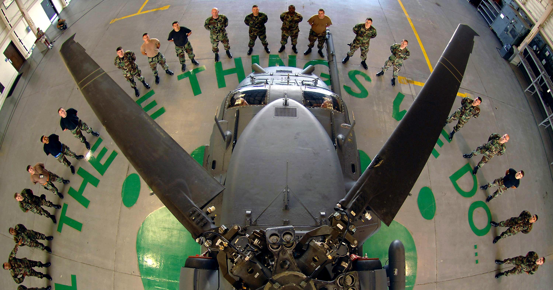 Free, Public Domain Image: Aircraft Maintenance Squadron Gathered.