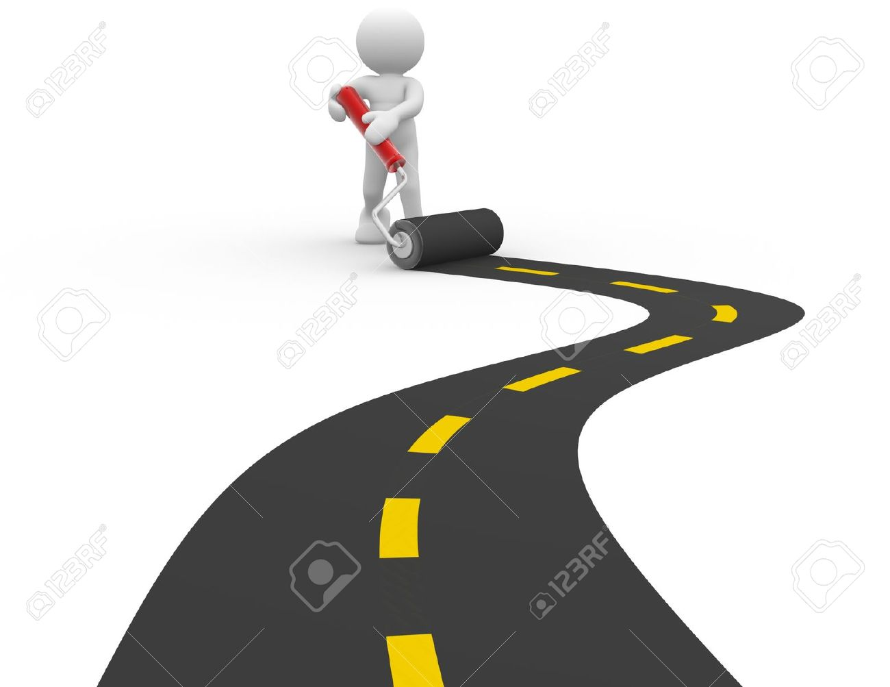 Paved road clipart.