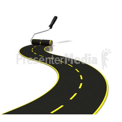 Paved Road Clip Art.