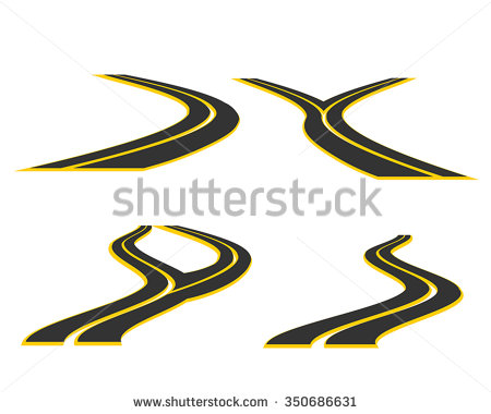 Paved Road Stock Images, Royalty.