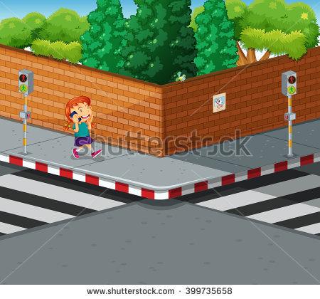 People Walking On Pavement Illustration Stock Vector 399735508.