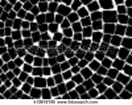 Clip Art of stone pavers pattern k19816199.