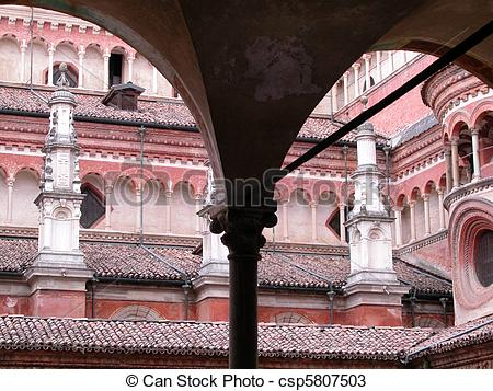 Stock Photos of Certosa di Pavia, Italy.