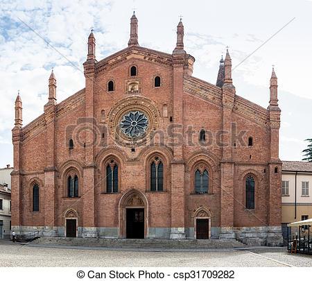 Pictures of Santa Maria del Carmino church of Pavia.