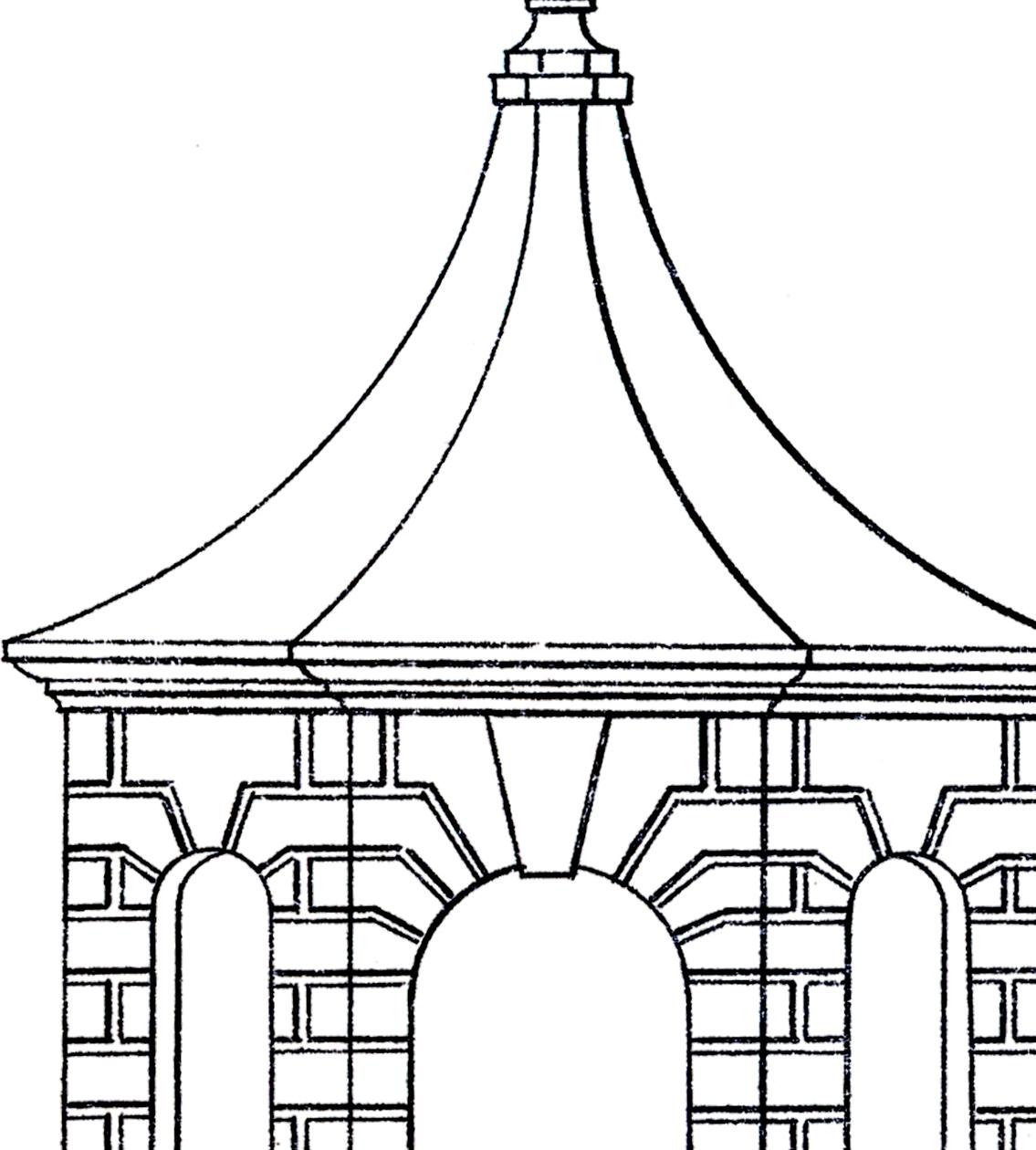 Vintage Line Art Pavilion!.