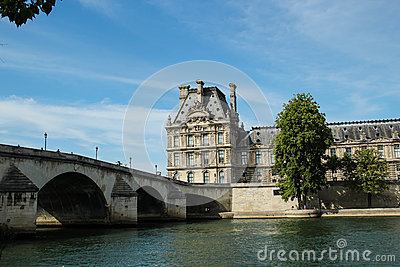 Royal Bridge, Paris Royalty Free Stock Photos.