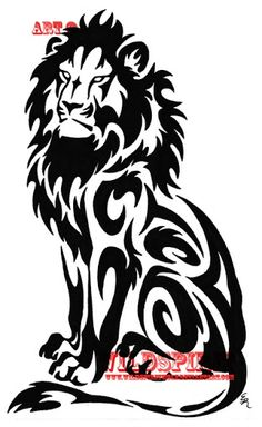 Tribal Lion Tattoo Designs: Top Tribal Lion Tattoo Designs Image.