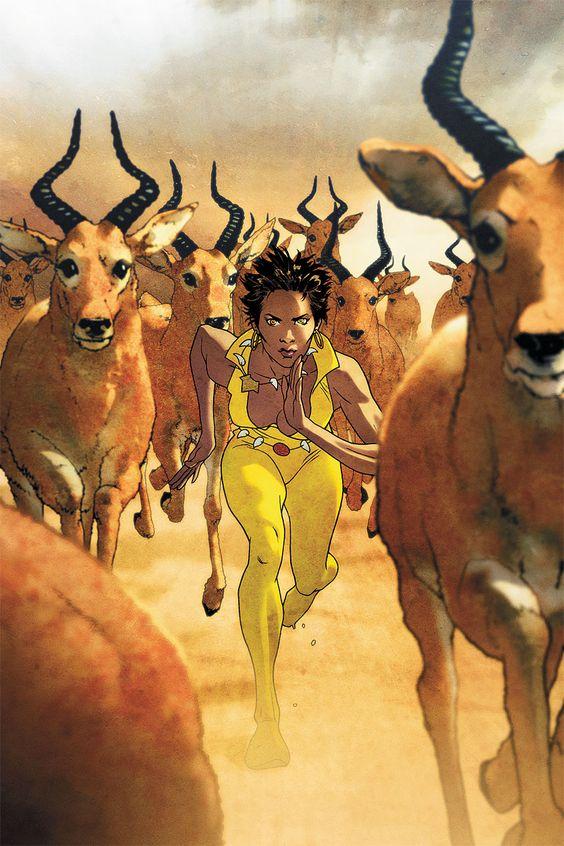 Vixen: Return of the Lion #3 courtesy DC Comics.