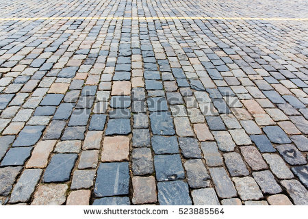 Stone Paving Texture Abstract Structured Background Stock Photo.