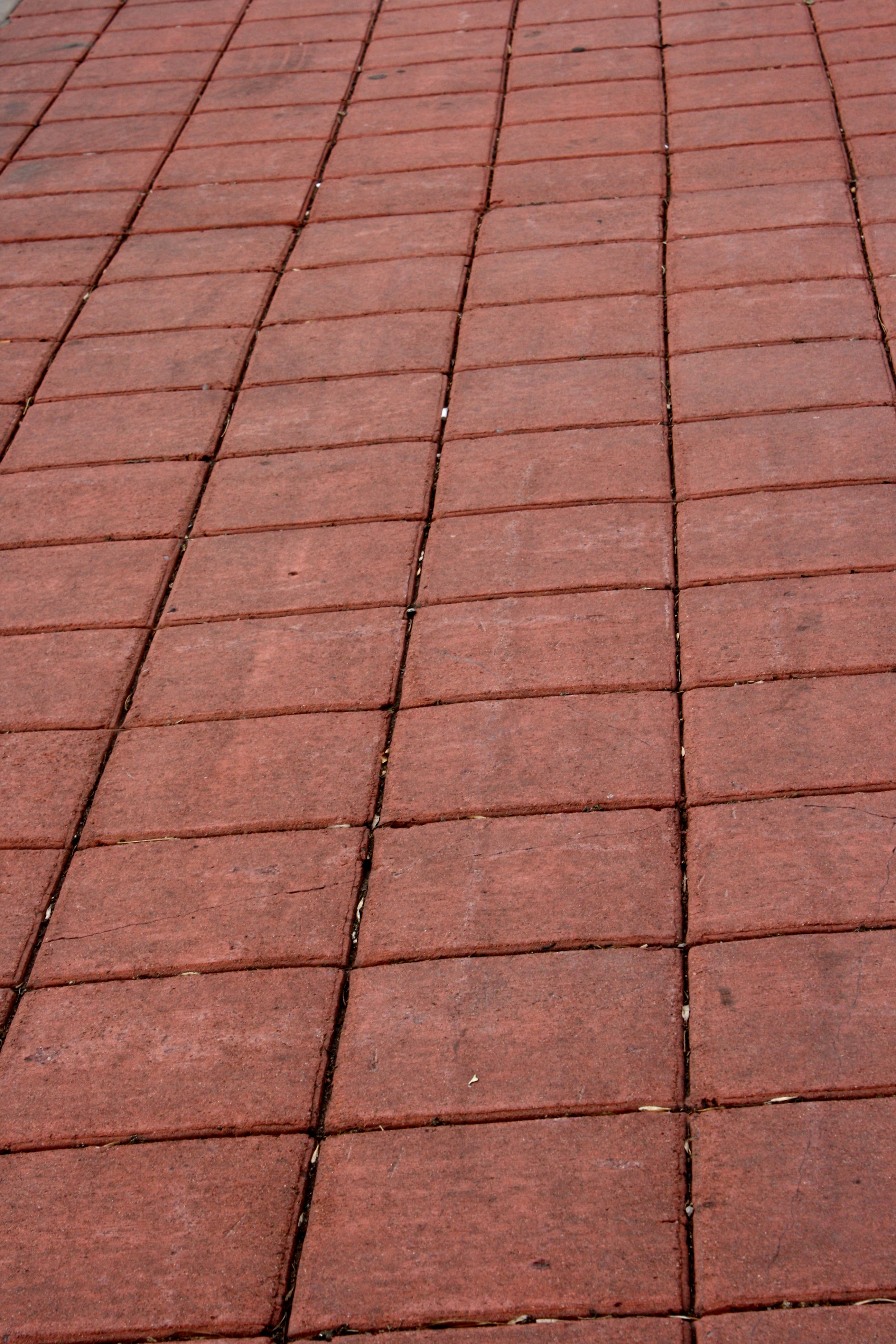 Red Pavers Sidewalk Picture.