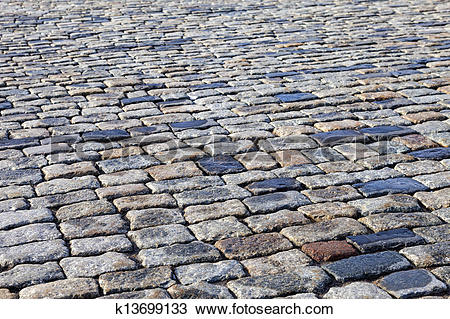 Stock Photo of Grey paving stones of the Red square in Moscow as.