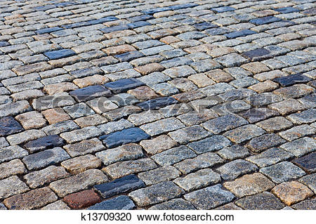 Stock Photography of Grey paving stones of the Red square in.