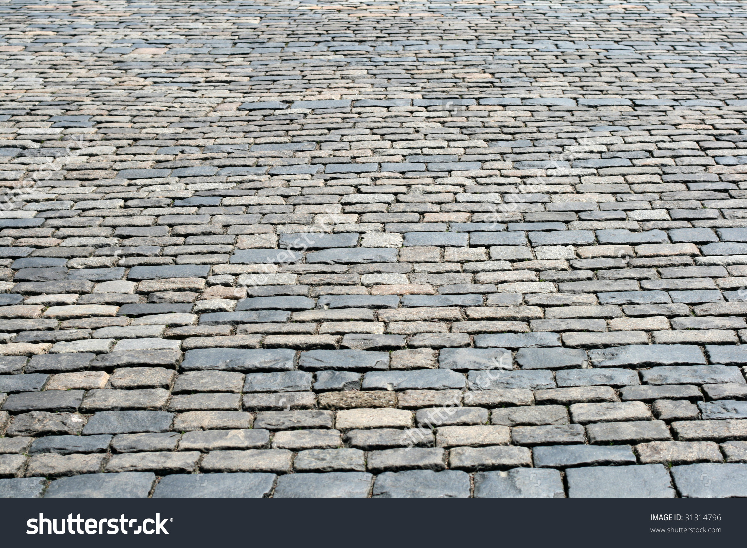 Cobblestone Pavement At Red Square, Moscow, Russia Stock Photo.
