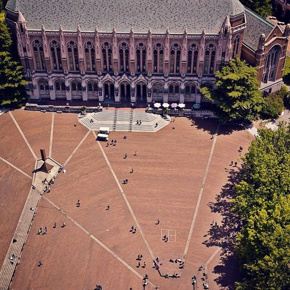 Red Square: The UW plaza paved with red brick..