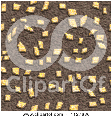 Clipart Of A Seamless Paver Stone Rock Texture Background Pattern.