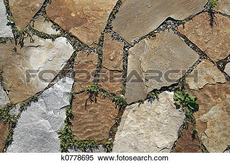 Stock Image of Stone paving texture k0778695.