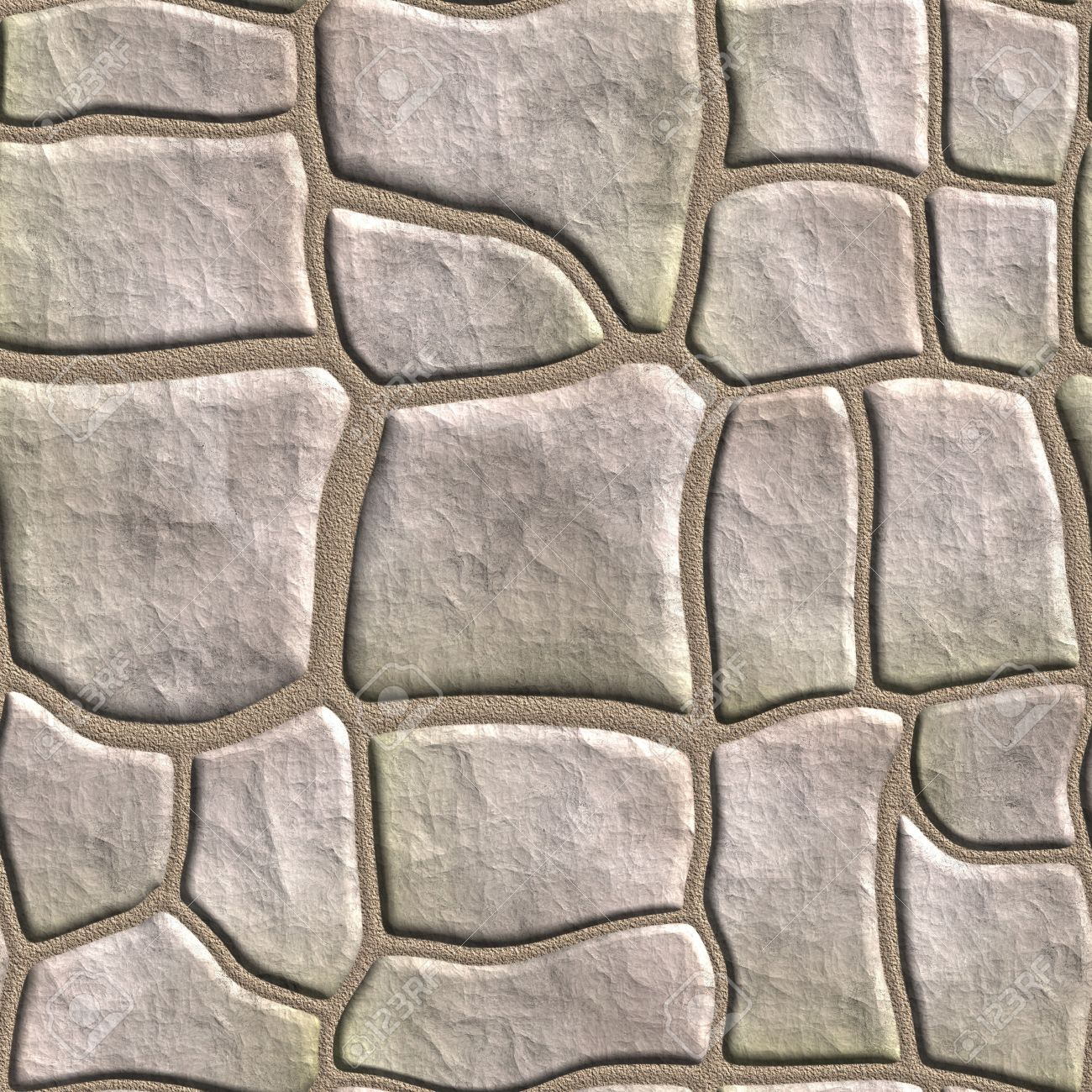 Seamless Tileable Stonewall Background. Stock Photo, Picture And.