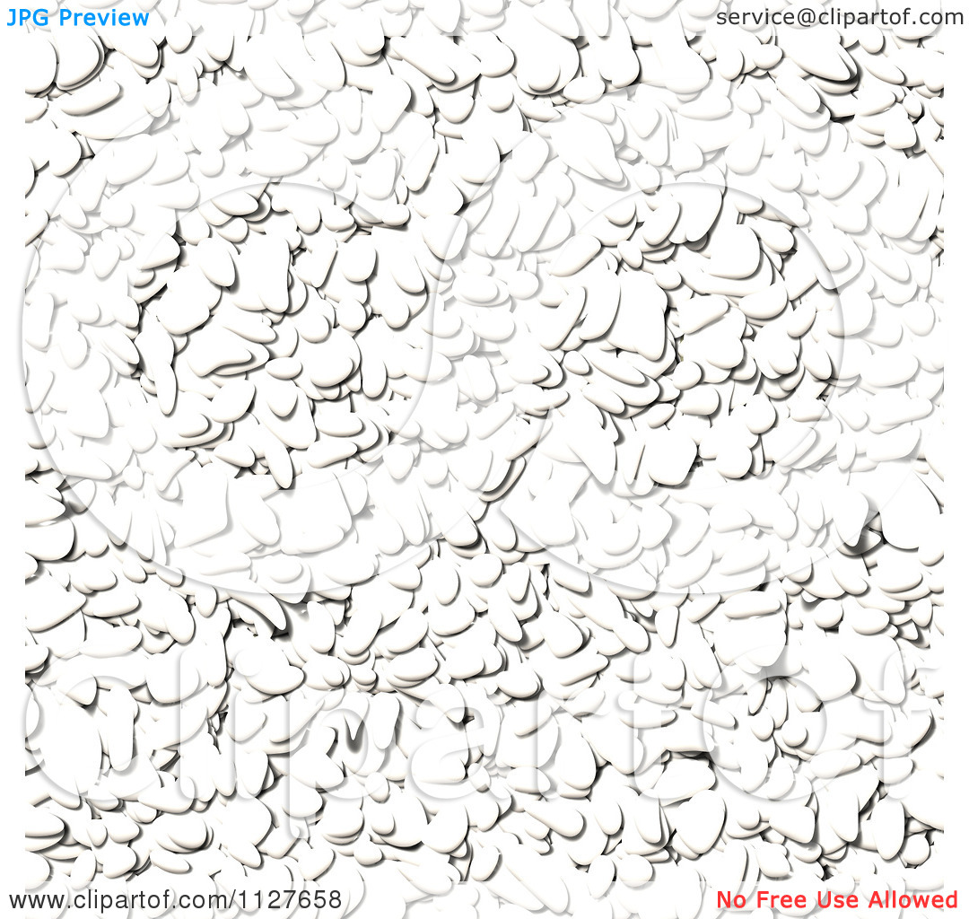 Clipart Of A Seamless White Paver Stone Rock Texture Background.