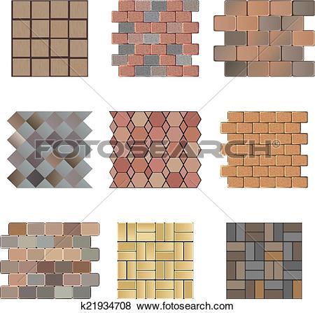 Clip Art of Paving stone k21934708.