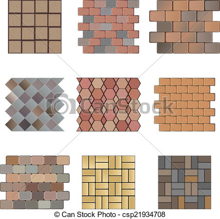 Vector Clipart of Paving stone.