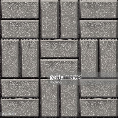 Pavement stone tiles Clipart Image.