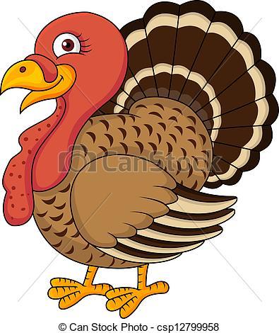 Clipart Vector of Turkey cartoon.