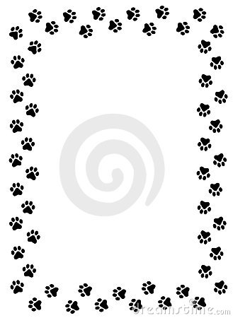Dog Paw Border Clipart.