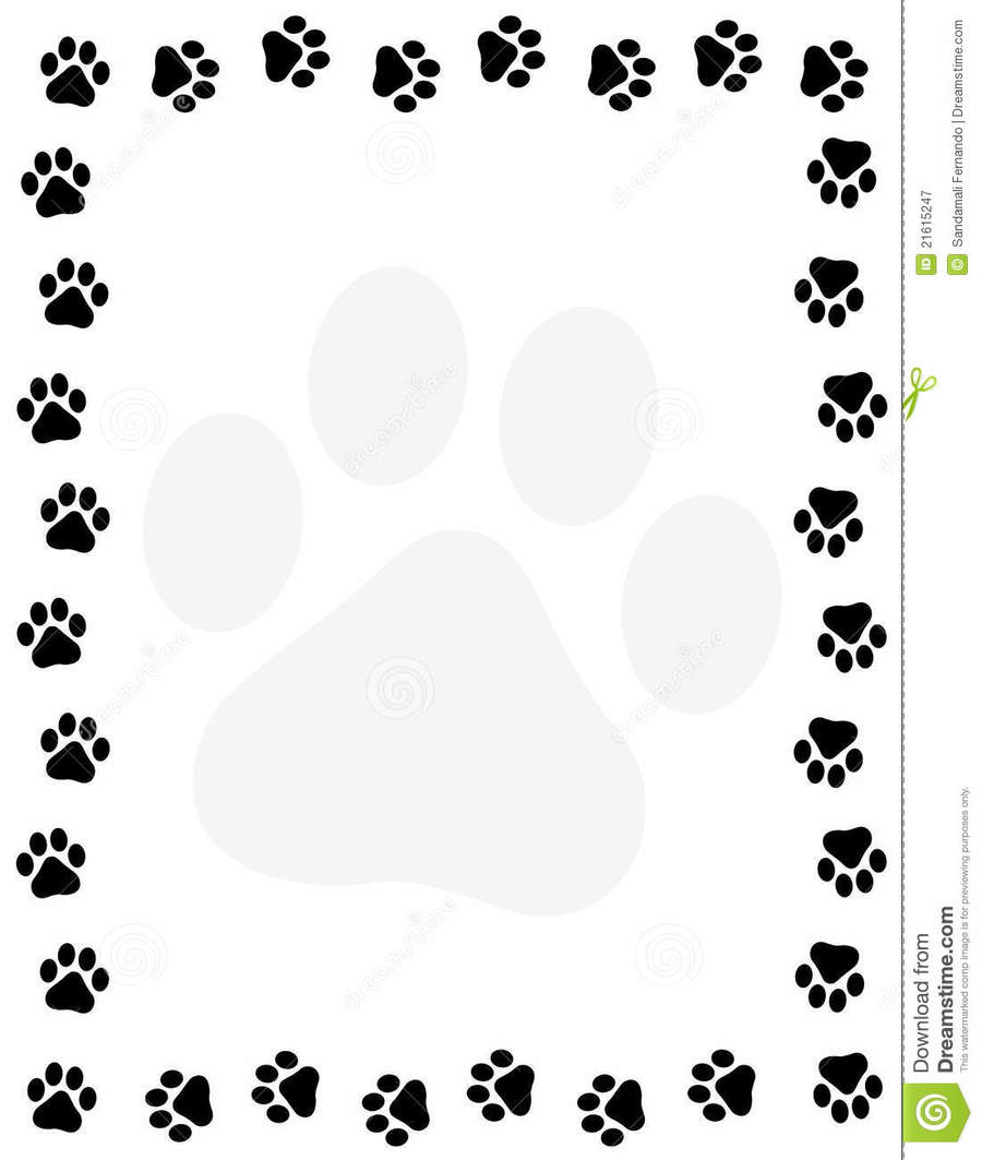Download colorful paw print border clipart Dog Cat Clip art.