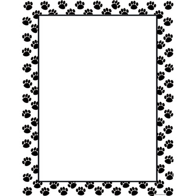 Paw print paw border clipart 5.