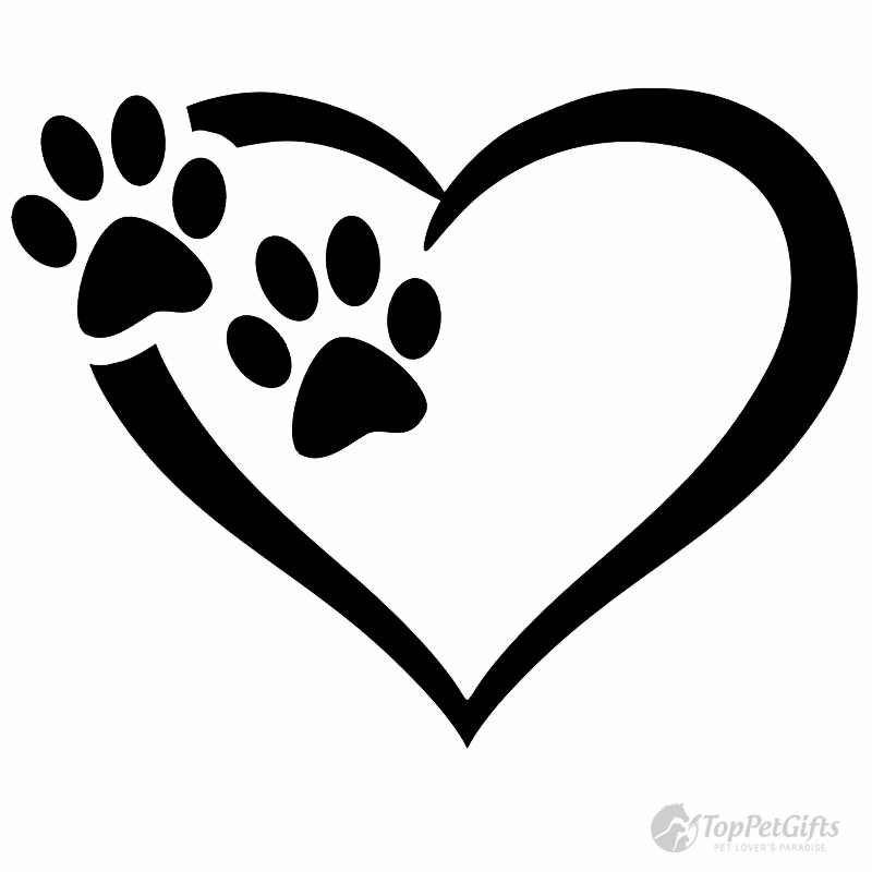 Paw Heart Clipart.