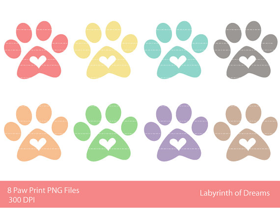 Dog foot pads clipart.