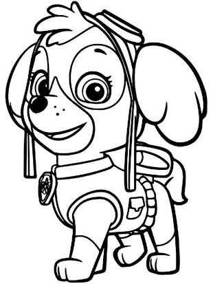 Paw patrol black and white clipart 2 » Clipart Station.