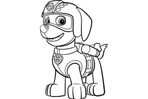 Paw patrol black and white clipart 3 » Clipart Station.