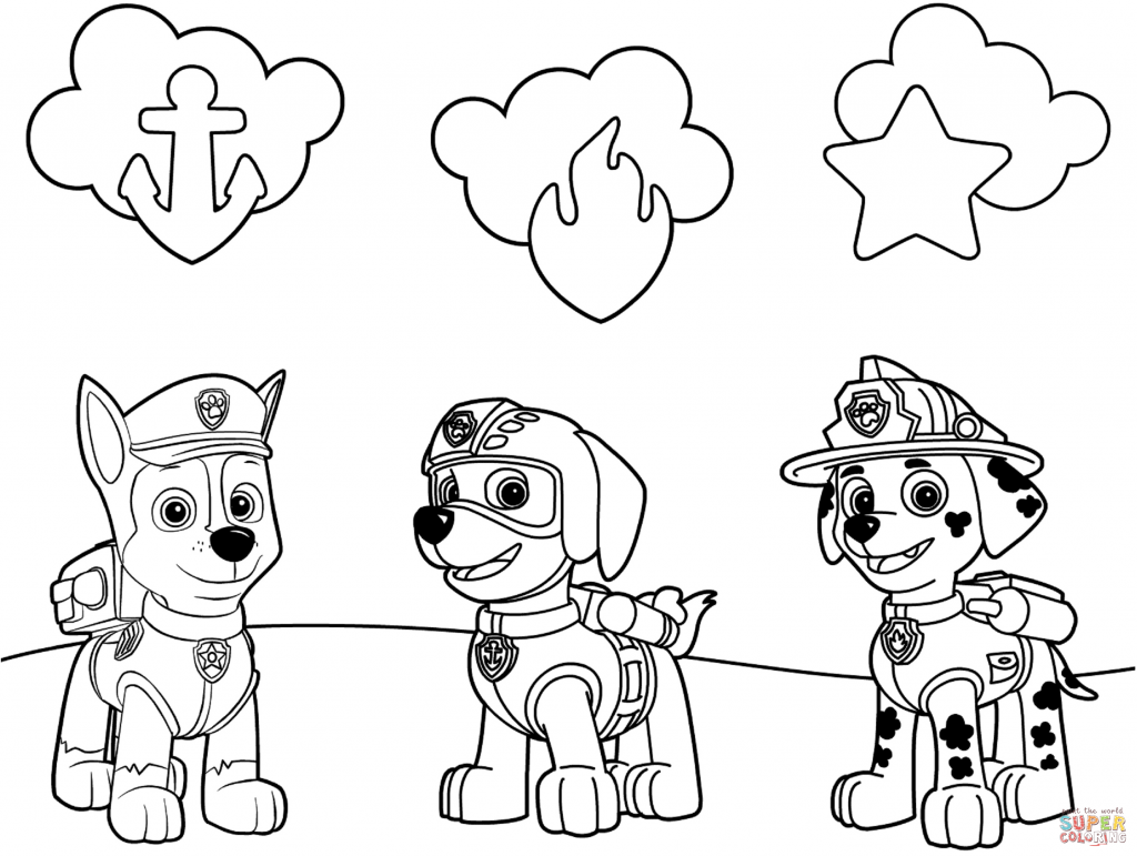 coloring ~ Paw Patrol Clip Art Black And White Games Nick Jr.