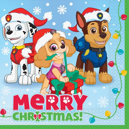 PAW Patrol Christmas Luncheon Napkins, 6.5 in, 18ct.