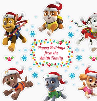 Paw Patrol™ Christmas Decals.