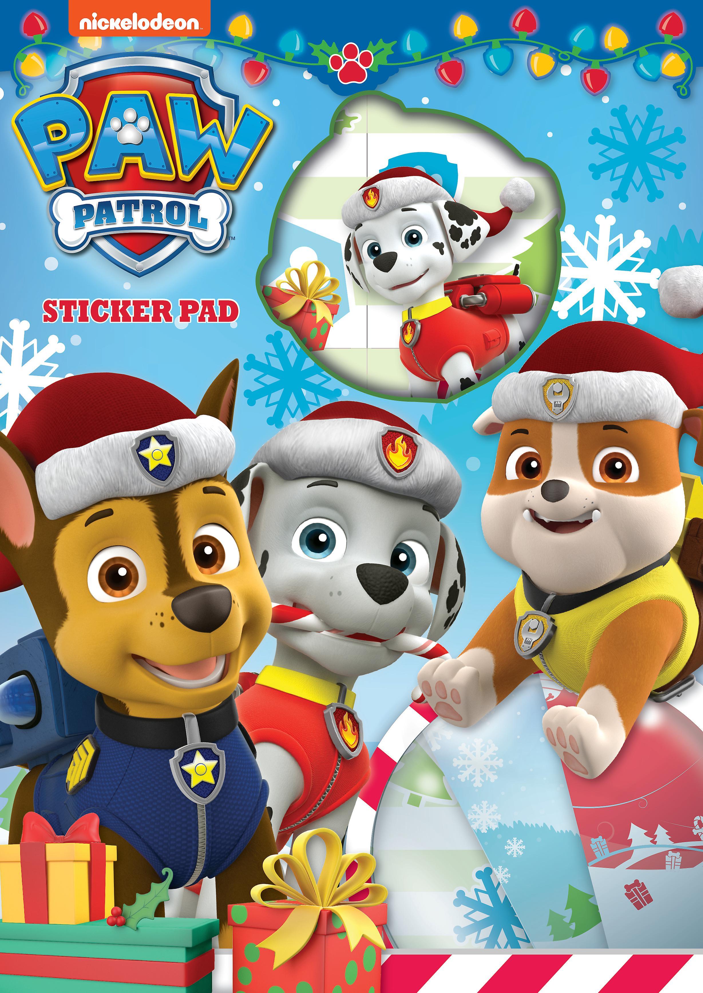 Paw Patrol Christmas Sticker Pad Over 25 Stickers.