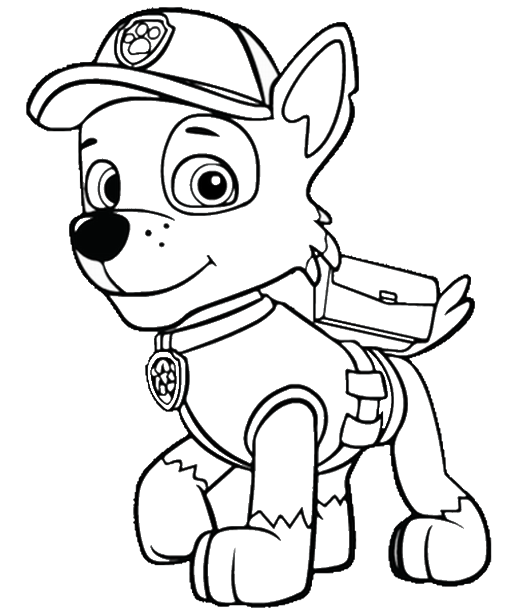 Paw patrol clipart black and white 3 » Clipart Station.