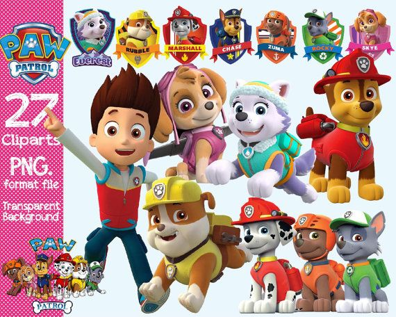 Paw Patrol Clipart transparent background by ANYTHINGINCARDS.