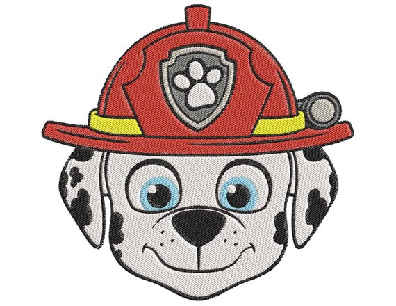 paw patrol Marshall Face Embroidery Design.