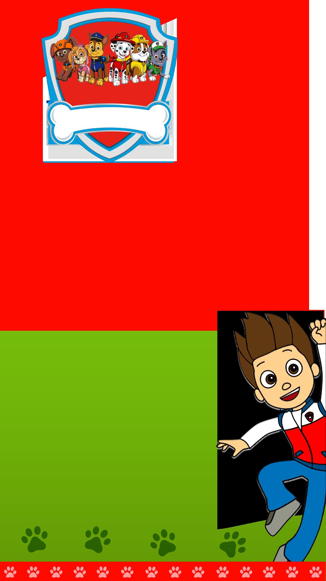 Kids Paw Patrol Birthday Snapchat Filter.