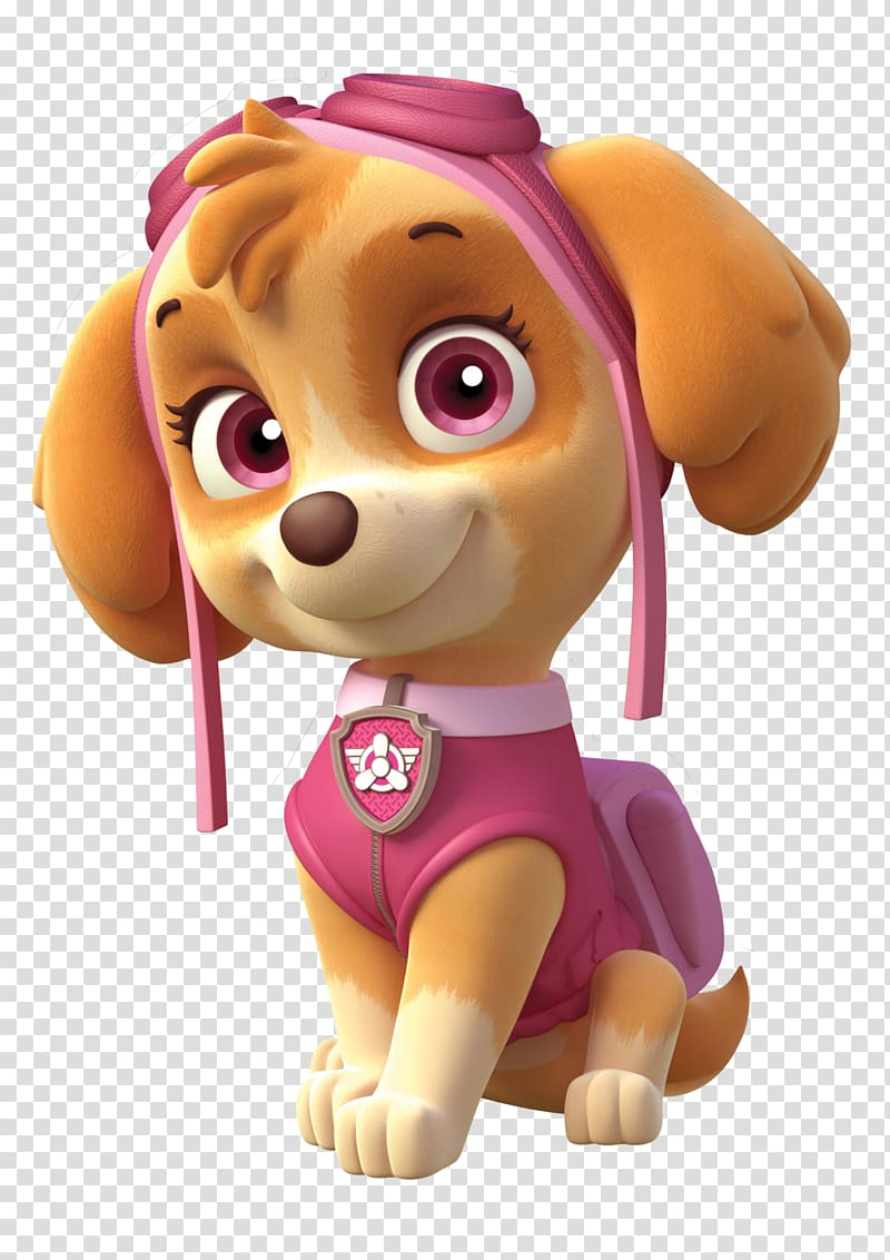 Paw Patrol Skye illustration, Cockapoo Puppy Birthday Party.