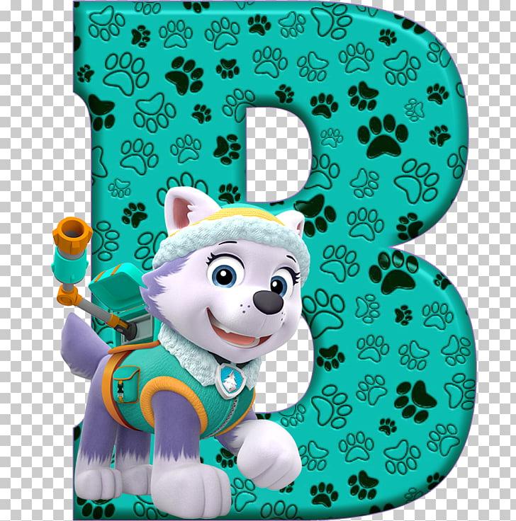 PAW Patrol Letter Alphabet V, Birthday PNG clipart.