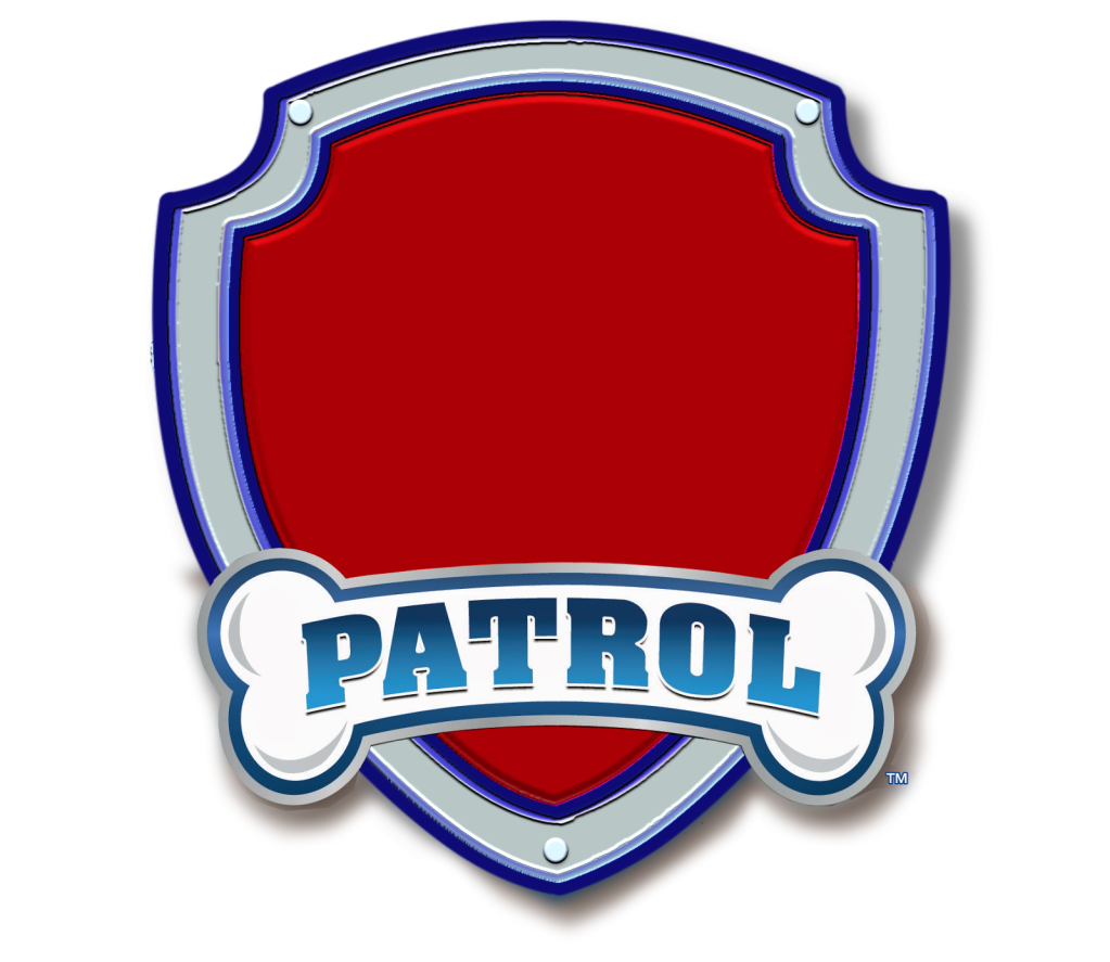 Paw Patrol Logo Blank.