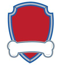 Paw Patrol Blank editable logo Blank Template.