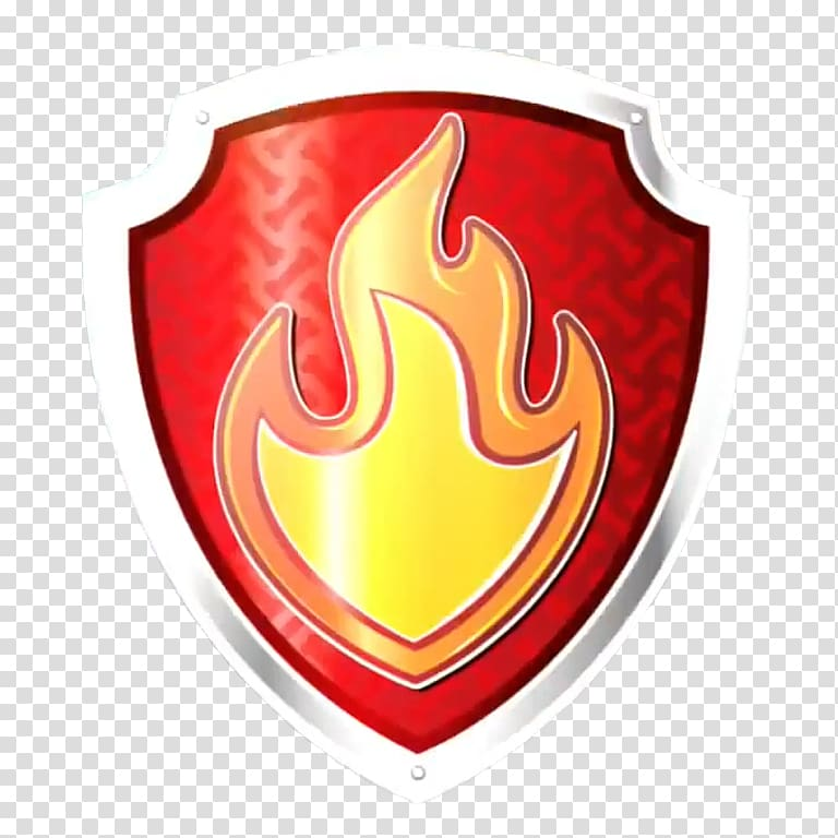 Red, orange, and white logo, Logo Firefighter Symbol Badge.
