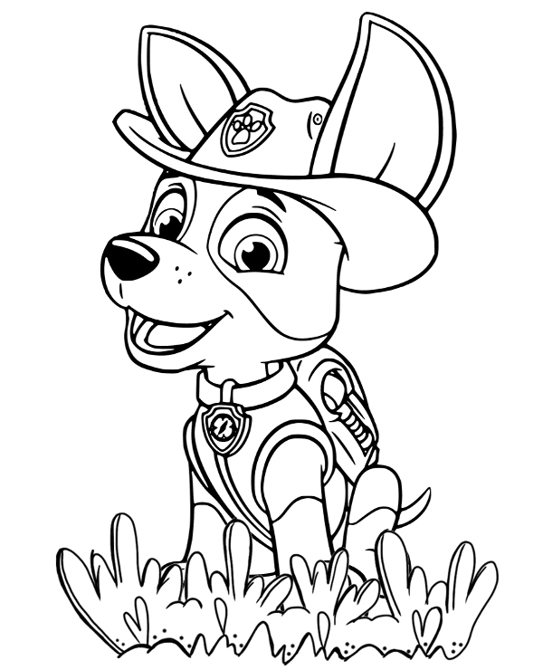 Paw Patrol Tracker Coloring Pages.